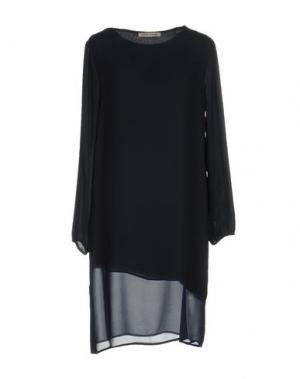 Короткое платье PAOLO CASALINI. Цвет: темно-синий