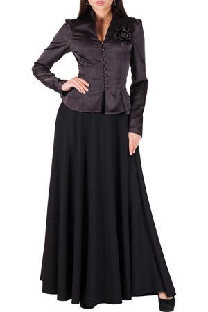 Комплект с юбкой Mannon. Цвет: темно-серый