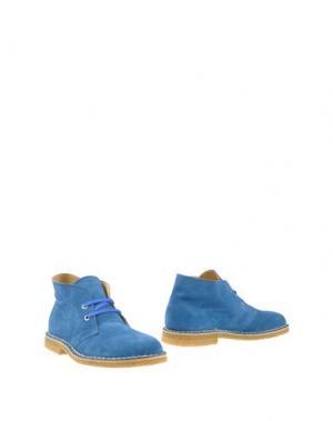 Полусапоги и высокие ботинки ALBERTO MORETTI. Цвет: цвет морской волны