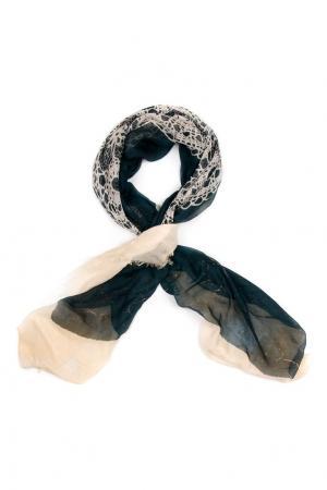 Кашемировый платок «Кружево в квадрате» Gourji. Цвет: multicolor