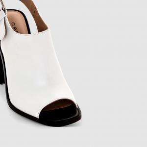 Босоножки на каблуке Carven x La Redoute. Цвет: белый