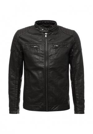 Куртка кожаная Celio. Цвет: коричневый