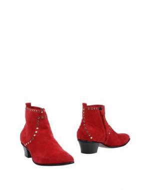 Полусапоги и высокие ботинки COSTUME NATIONAL HOMME. Цвет: красный