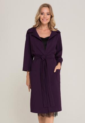 Пальто Lezzarine. Цвет: фиолетовый