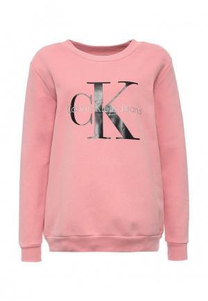 Свитшот Calvin Klein Jeans. Цвет: розовый