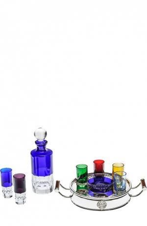 Набор из штофа, подноса, икорницы и 6-ти рюмок для водки Ice Shots Tsar. Цвет: бесцветный