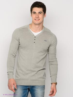 Пуловер Mezaguz. Цвет: серый меланж