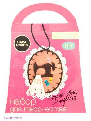 Набор для создания подвескиМодистка CARAMEL Daisy Design. Цвет: розовый