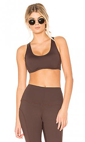 Спортивный бюстгальтер kayla Khongboon Activewear. Цвет: коричневый