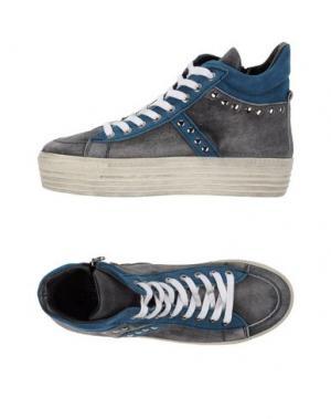 Высокие кеды и кроссовки W DABLIU. Цвет: серый