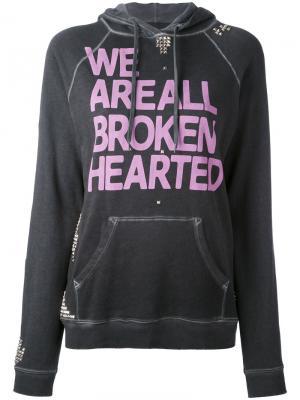 Толстовка с капюшоном We Are All Broken Hearted Freecity. Цвет: серый