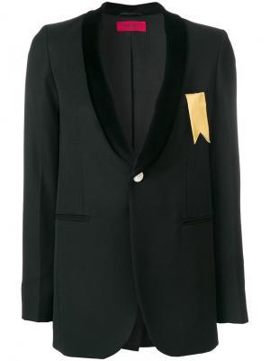 Строгий пиджак Marg The Gigi. Цвет: чёрный
