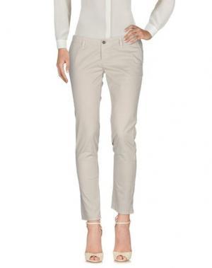 Повседневные брюки BELLE FEMME®. Цвет: светло-серый