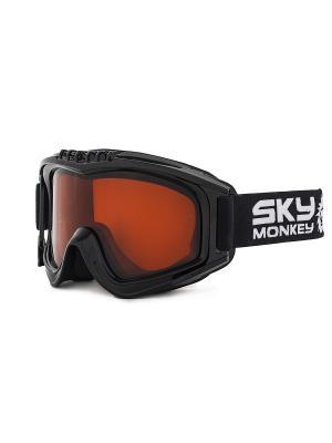 Маска сноубордическая Sky Monkey SR21 OR. Цвет: черный