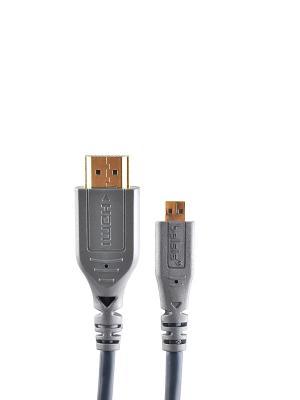 Кабель HDMI, HDMI вилка - micro (type D) вилка, длина 1.8 м. Belsis. Цвет: серый