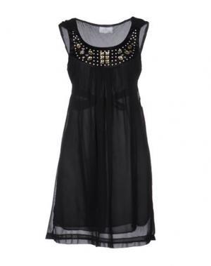 Короткое платье PARIS HILTON. Цвет: черный