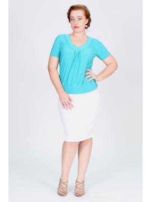 Блузка Pelagueya. Цвет: бирюзовый