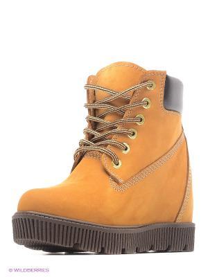 Ботинки JUST COUTURE. Цвет: коричневый, желтый