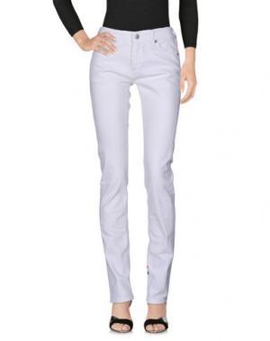 Джинсовые брюки HYDROGEN. Цвет: белый