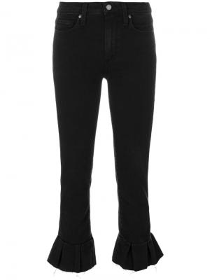 Укороченные джинсы с баской Paige. Цвет: чёрный