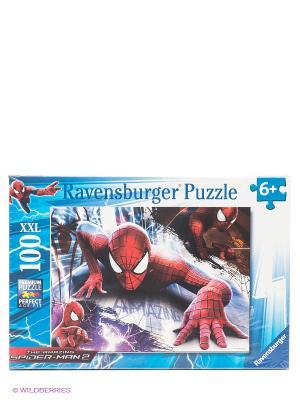 Пазл Человек-паук XXL 100шт Ravensburger. Цвет: голубой