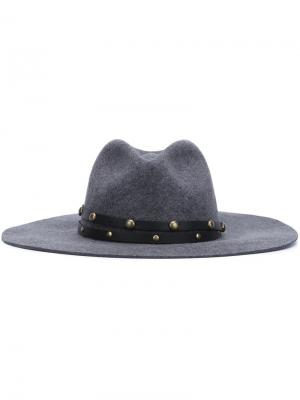 Studded band felt hat Sensi Studio. Цвет: серый