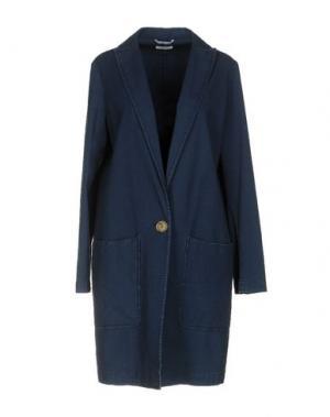Легкое пальто TRUE TRADITION. Цвет: синий