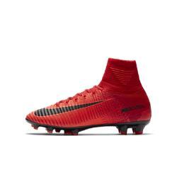 Футбольные бутсы для игры на твердом грунте школьников  Jr. Mercurial Superfly V Dynamic Fit Nike. Цвет: красный