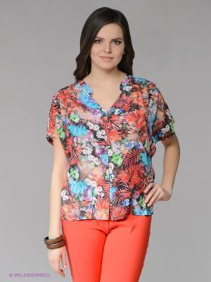 Блузка ARDATEX. Цвет: красный, голубой
