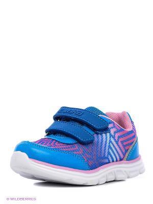 Полуботинки дошкольные кроссовые Зебра. Цвет: голубой