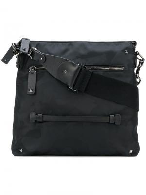 Камуфляжная сумка через плечо Valentino. Цвет: чёрный
