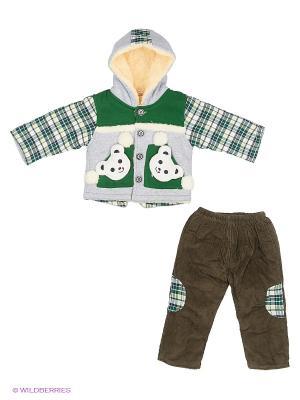 Комплект Happy Bear. Цвет: зеленый, серый