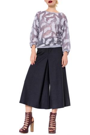 Свободная юбка-брюки с утеплителем JN. Цвет: серый