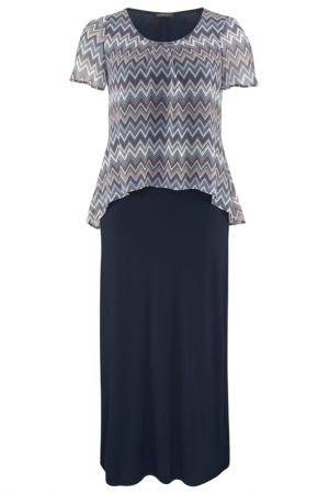 Платье Apart. Цвет: синий, разноцветный