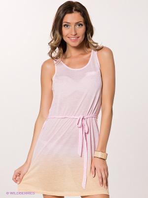 Платье ICHI. Цвет: розовый, желтый