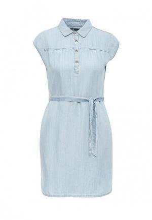 Платье джинсовое oodji. Цвет: голубой