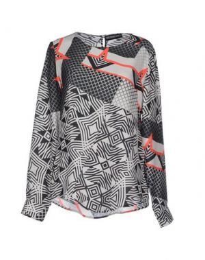 Блузка THE TEXTILE REBELS. Цвет: светло-серый