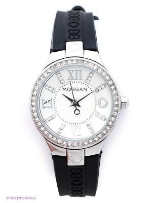 Часы Morgan. Цвет: серебристый, черный