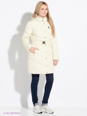 Куртка U.S. Polo Assn.. Цвет: молочный