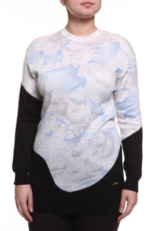 Блуза Kenzo. Цвет: белый, черный, голубой принт