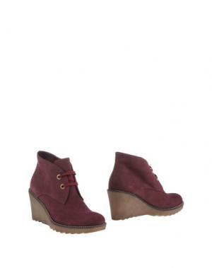 Полусапоги и высокие ботинки GIONATA. Цвет: баклажанный