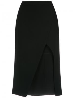 Panelled midi skirt Giuliana Romanno. Цвет: чёрный