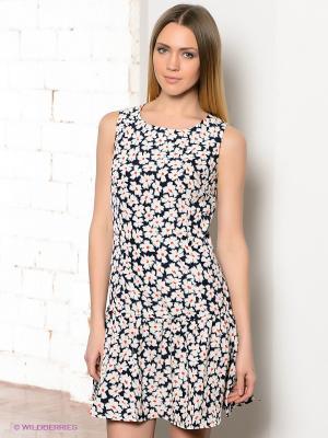 Платье TOM FARR. Цвет: темно-синий, белый