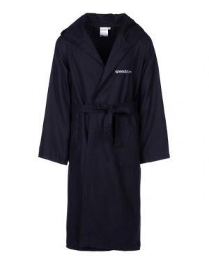 Банный халат SPEEDO. Цвет: темно-синий