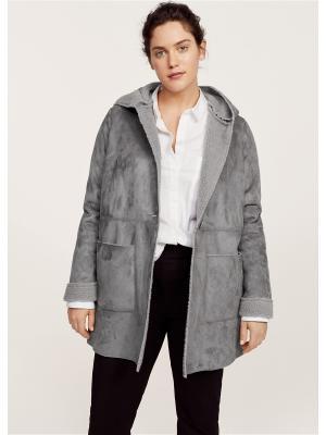 Пальто - PASTOR Violeta by Mango. Цвет: серый