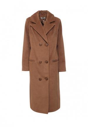 Пальто Bezko. Цвет: коричневый