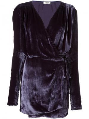 Платье Anjelica Var. 2 Attico. Цвет: розовый и фиолетовый