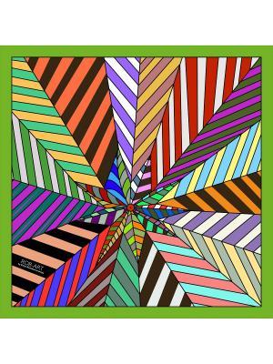 Платок Rob-art by Katya Rozhdestvenskaya. Цвет: бирюзовый, светло-зеленый, темно-бордовый