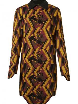 Geometric pattern knit dress Gig. Цвет: коричневый