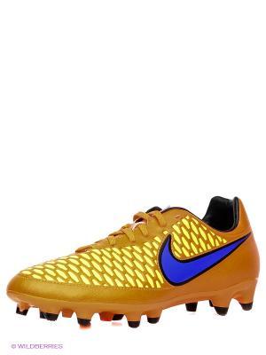 Бутсы MAGISTA ONDA FG Nike. Цвет: оранжевый, синий